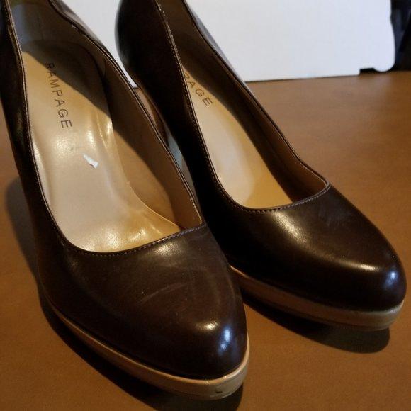 Rampage Shoes - Rampage Brown Heels